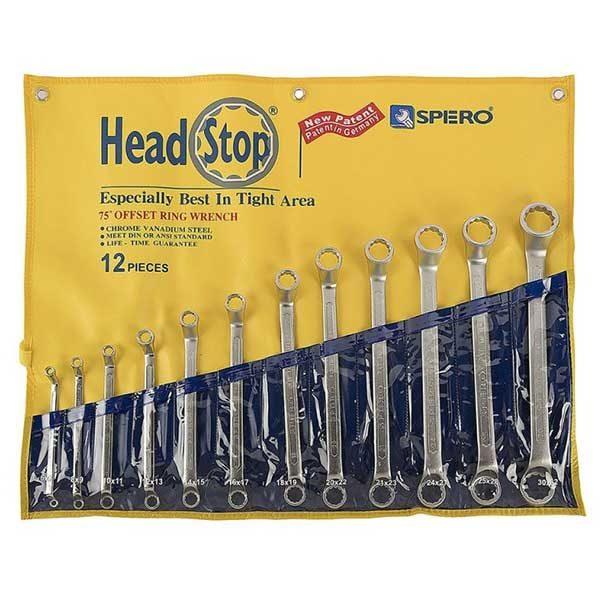 مجموعه آچار دستی دو سر رینگ 701-712P